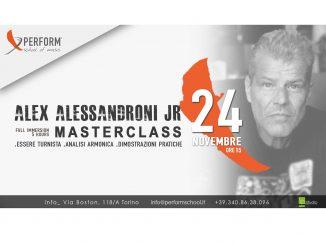 Masterclass con Alex Alessandroni Jr presso la Perform School of music Torino