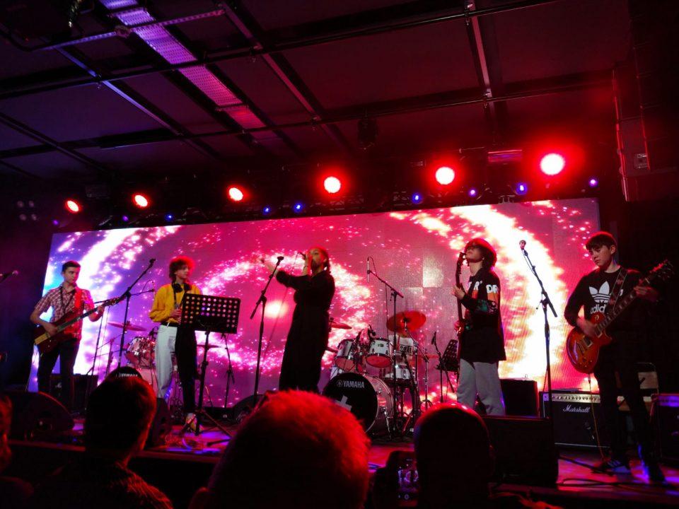 Il palco del Metronome durante una delle esibizioni